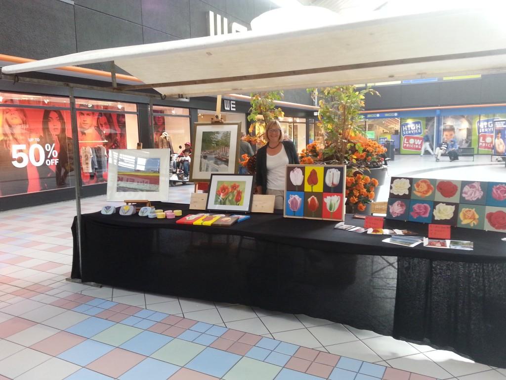 Kunstmarkt winkelcentrum Schalkwijk