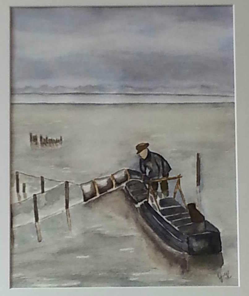 Visser op het IJsselmeer